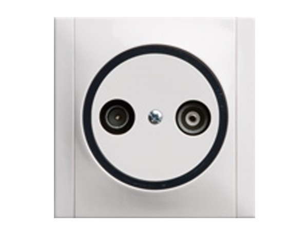 Antennen-Steckdose TV/RF mit 2 Ausgängen weiß/grau Serie Ascoli - REV-Ritter (00922104)
