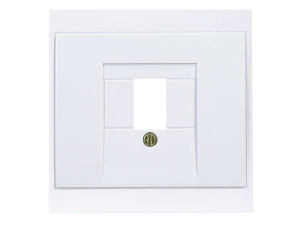 Abdeckung für TAE-Telefon-Anschlussdose arktis-weiß Serie Malta - Kopp (350113186)