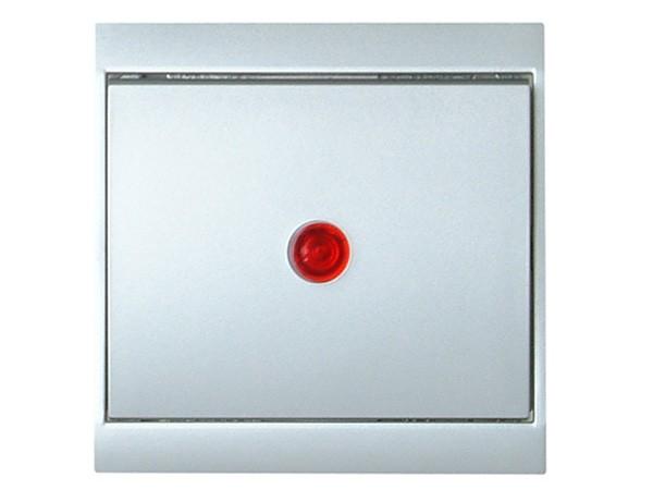 Kontrollschalter (A/W) beleuchtet silber Serie Malta - Kopp (621677083)