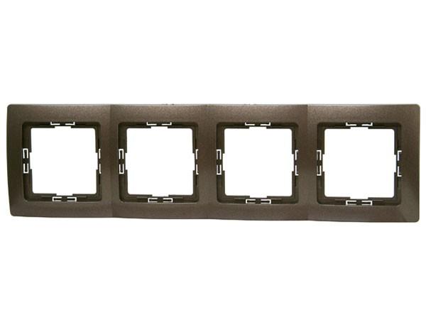 Abdeckrahmen 4-fach Serie Paris palisander-braun - Kopp (308726060)