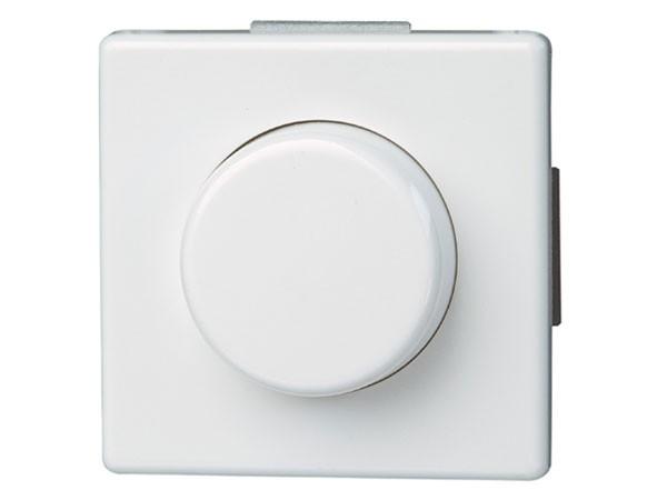 Elektronischer Dimmer mit Wippen-Wechselschalter (Phasenabschnitt) Serie Vision arktis-weiß Kopp