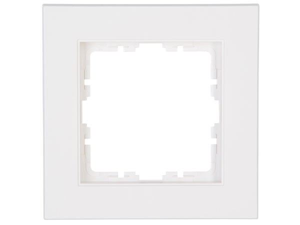 Abdeckrahmen 1-fach Objekt HK 07 rein-weiß Kopp (402129000)