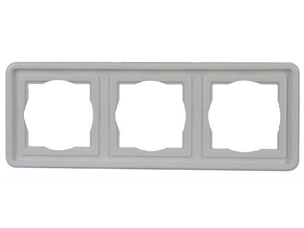 Abdeckrahmen 3-fach Serie Vision arktis-weiß Kopp (302502060)