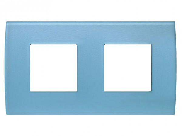 TEM Serie Modul Plus PURE Glas Abdeckrahmen 2x2M Eisblau (OP24GB-U)