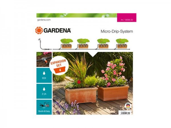 Gardena Micro-Drip-System Erweiterungsset Pflanzentröge (13006)