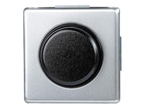 Elektronischer Dimmer mit Wippen-Wechselschalter (Phasenabschnitt) Serie Vision stahl - Kopp
