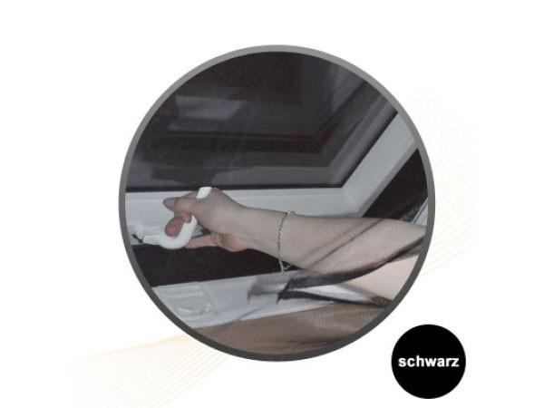 Jarolift Fliegengitter für Dachfenster 130 x 150 cm schwarz