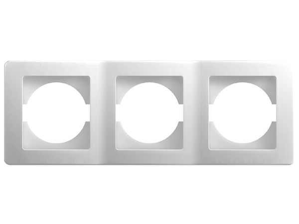 3-Fachrahmen horizontal weiß-glanz Serie ekonomik (OE30PW)