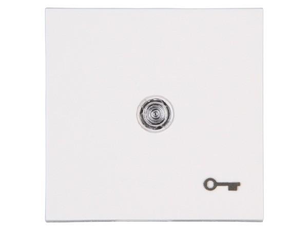 Flächenwippe mit Linse und Symbol Schlüssel Objekt HK 07 rein-weiß Kopp (490462001)