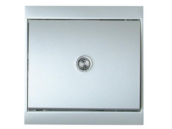 Universalschalter (A/W) beleuchtet silber Serie Malta - Kopp (620677082)