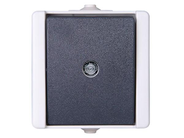 Taster beleuchtet IP44 AP-Feuchtraum Serie proAQA - Kopp grau (540396001)