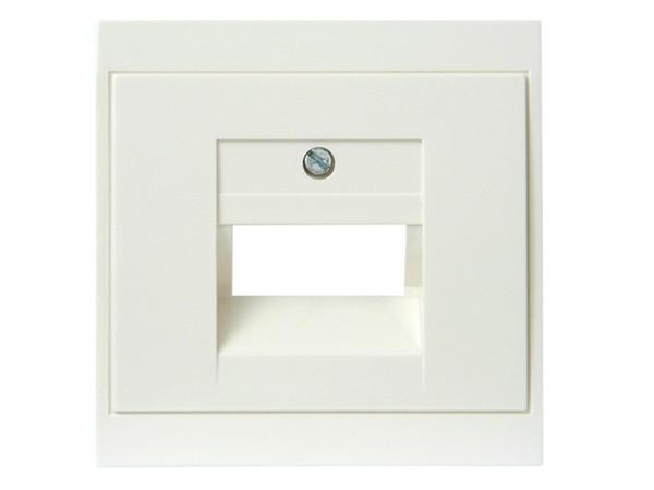 Abdeckung für UAE-Anschlussdose weiß Serie Malta - Kopp (333101186)