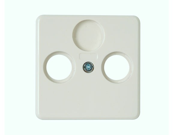 Abdeckung für Antennensteckdose TV/RF weiß / Serie Milano - Kopp (358613189)