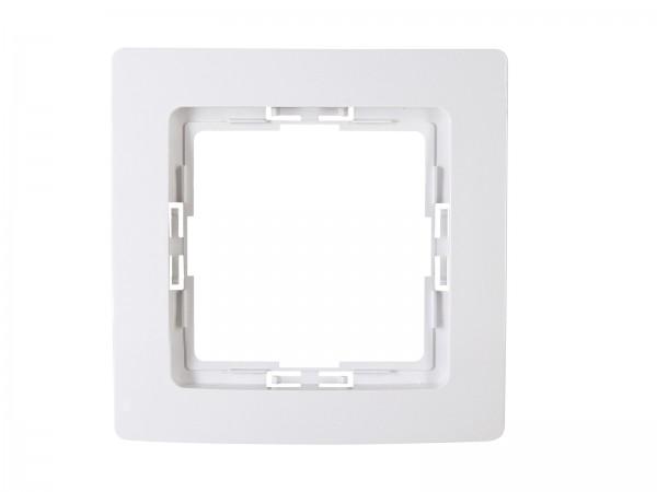 Abdeckrahmen für senkrechte und waagerechte Installation 1-fach, arktis-weiß, HK05 / Paris arktis we