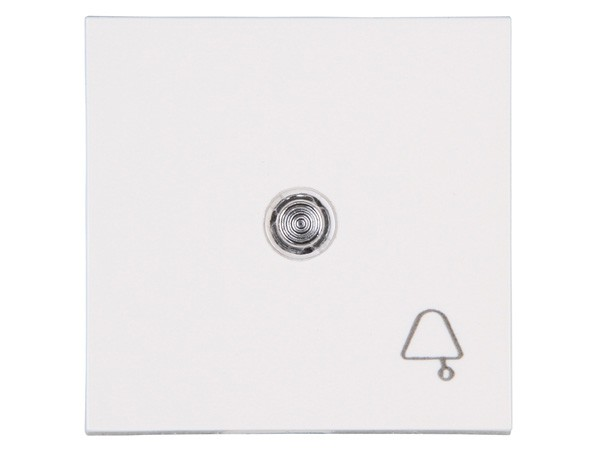 Flächenwippe mit Linse und Symbol Glocke Objekt HK 07 rein-weiß Kopp (490452004)
