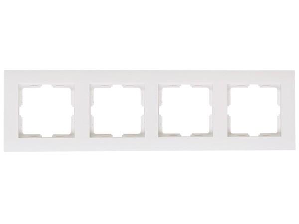 Abdeckrahmen 4-fach rein-weiß Serie Athenis - Kopp (402829063)