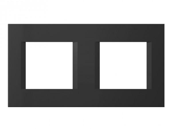TEM Serie Modul Plus LINE Abdeckrahmen 2x2M schwarz matt (OL24SB-U)
