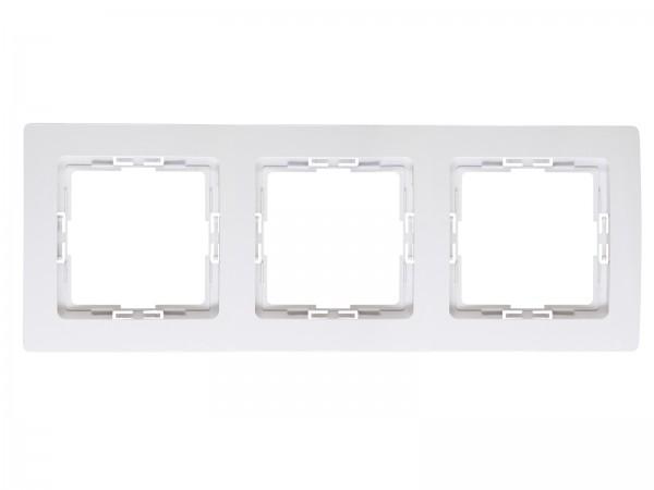 Abdeckrahmen für senkrechte und waagerechte Installation 3-fach, arktis-weiß, HK05 / Paris arktis we