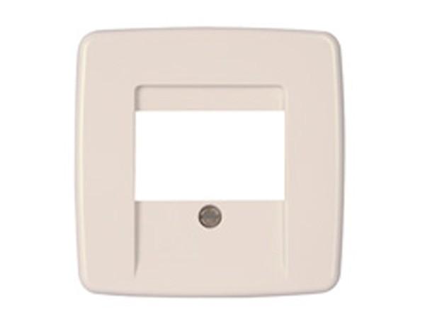 Abdeckung für TAE-Telefon-Anschlussdose Serie Rivo rein-weiß Kopp (339717183)