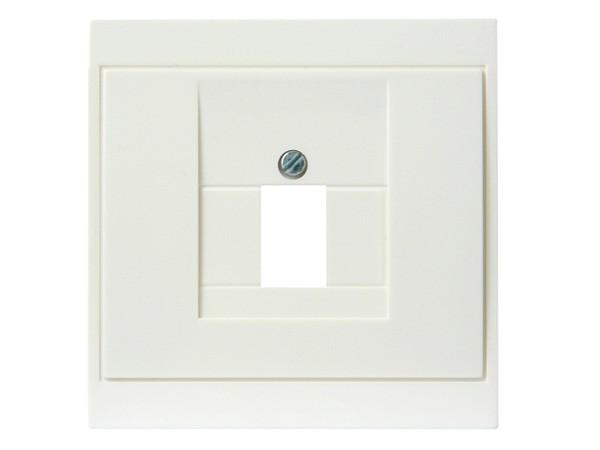 Abdeckung für TAE-Telefon-Anschlussdose weiß Serie Malta - Kopp (350101187)