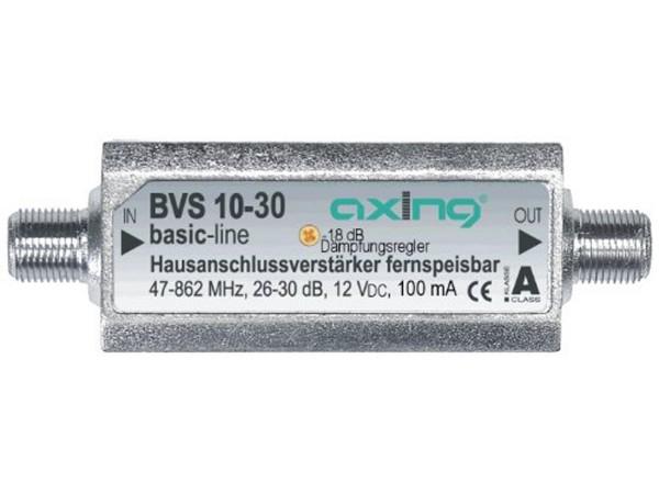Axing BVS 10-30 Mini Hausanschluss Verstärker Inline fernspeisbar 30 dB (BVS 10-30)