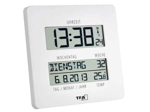 TFA 60.4509.02 Digitale Timeline Funkuhr mit Temperatur