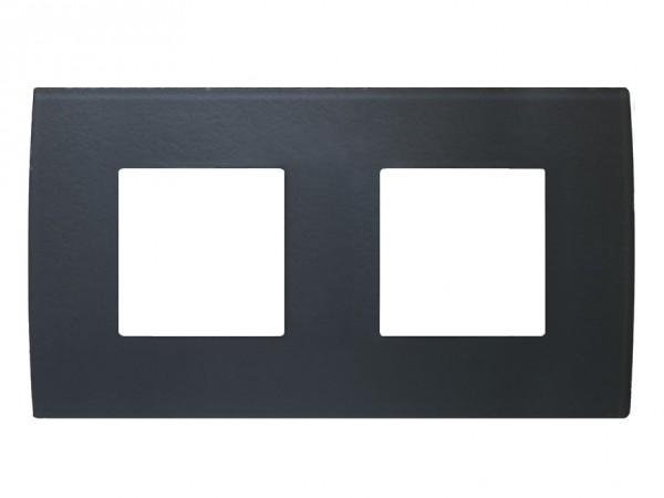TEM Serie Modul Plus PURE Glas Abdeckrahmen 2x2M Eisgrau (OP24GY-U)