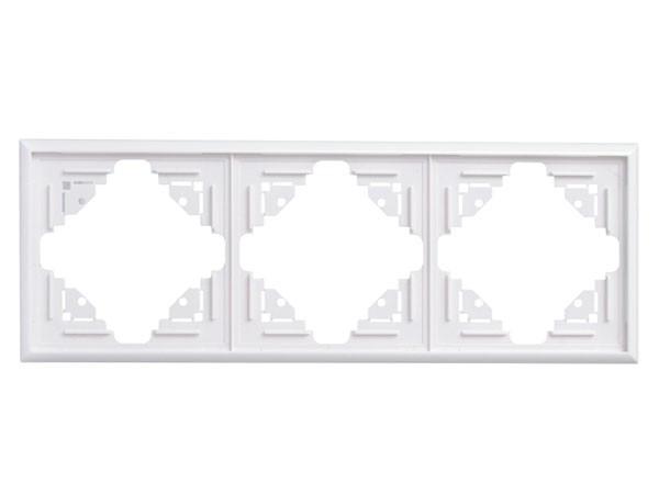 Abdeckrahmen 3-fach arktis-weiß Serie Malta - Kopp (309313069)