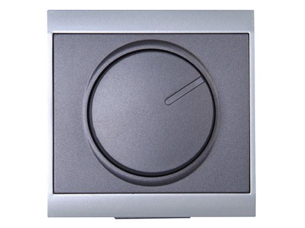 Druck-Wechsel-Dimmer (Phasenanschnitt) Serie Malta silber-anthrazit - Kopp (803815089)