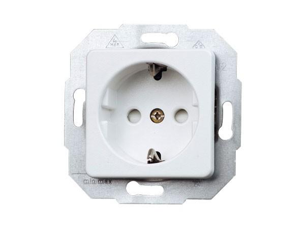 Schutzkontakt-Steckdose mit erhöhtem Berührungsschutz Serie Europa arktis-weiß Kopp (112613086)