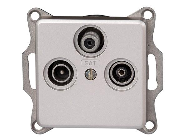 Antennensteckdose TV/RF/SAT Serie Milano stahl - Kopp (917120084)