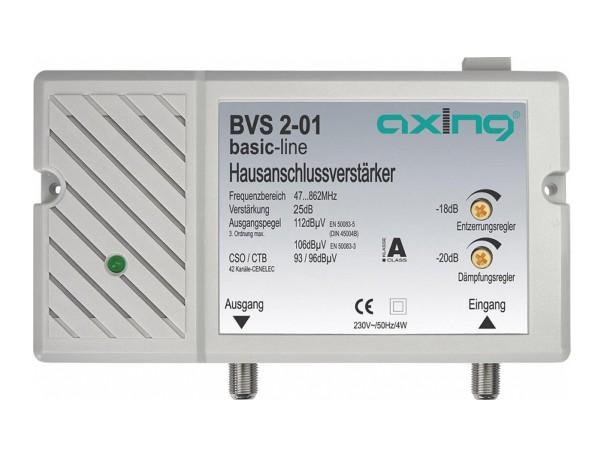 Axing Hausanschlussverstärker 25 dB | 98 dBμV   (BVS 2-01)
