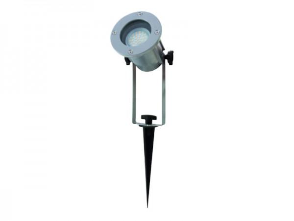 RITOS LEDs Garden Gartenspot mit Erdspieß silber (0087410712)
