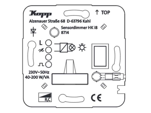 HK i8 UP-Leistungsteil Dimmer für konventionelle Trafos Phasenanschnitt - Kopp (871500010)