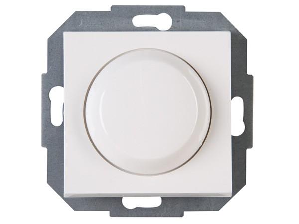 Elektronischer Dimmer mit Wippen-Wechselschalter (Phasenabschnitt) Serie Athenis rein-weiß - Kopp