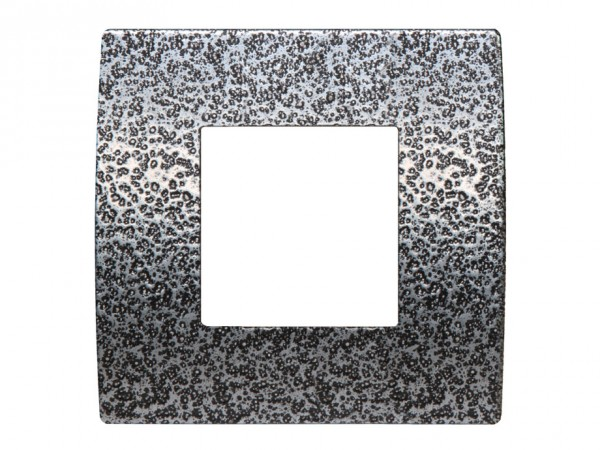 TEM Serie Modul Plus PURE Abdeckrahmen 2M geschmiedeter Stahl (OP20MH-U)