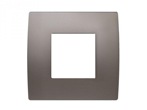 TEM Serie Modul Plus PURE Abdeckrahmen 2M satin-nickel (OP20MN-U)