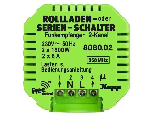 Free control Funk-Empfänger Rollladen- oder Serien-Schalter  (808002224)
