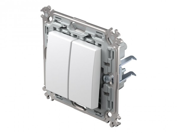 TEM Serie Modul Plus Serienschalter polar weiß (CS50PWXO-D)