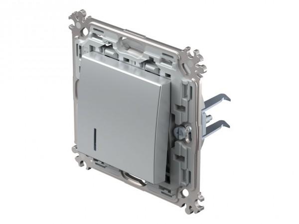 TEM Serie Modul Plus Taster Kontroll (A/W) beleuchtet silber (CS61ESXOIN-D)