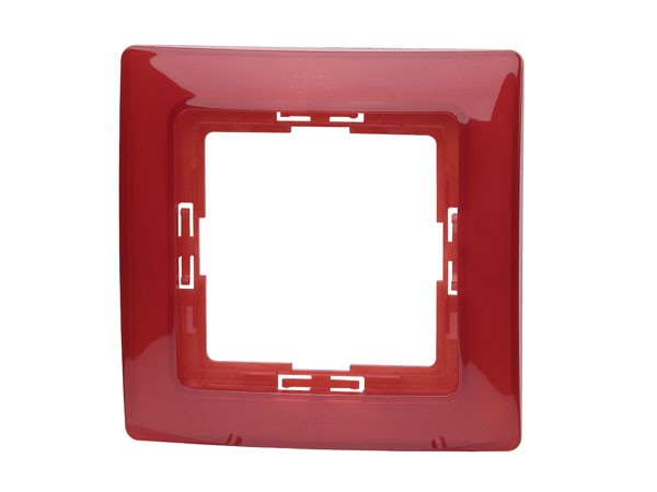 Abdeckrahmen 1-fach Serie Paris rot transparent - Kopp (308412084)