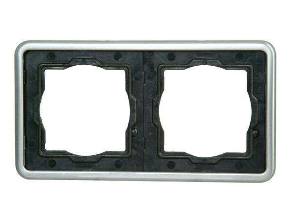Abdeckrahmen 2-fach stahl Serie Vision - Kopp (302420069)