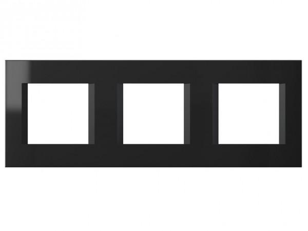 TEM Serie Modul Plus LINE Abdeckrahmen 3x2M schwarz-glanz (OL26NB-U)