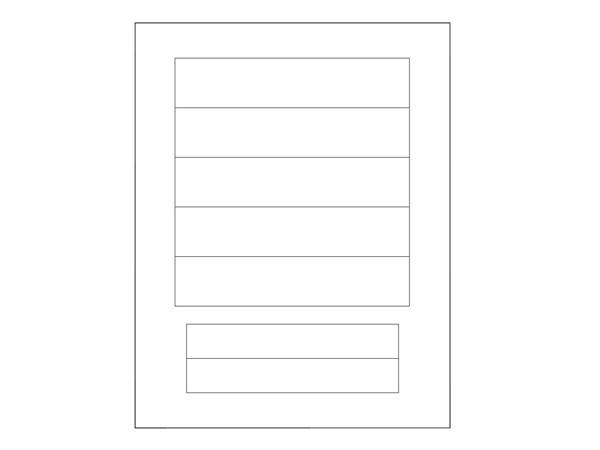 Beschriftungsbogen A4 Objekt HK 07 rein-weiß Kopp (491600004)