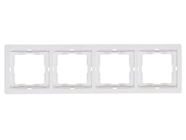 Abdeckrahmen 4-fach rein-weiß Serie Venedig - Kopp (400429069)