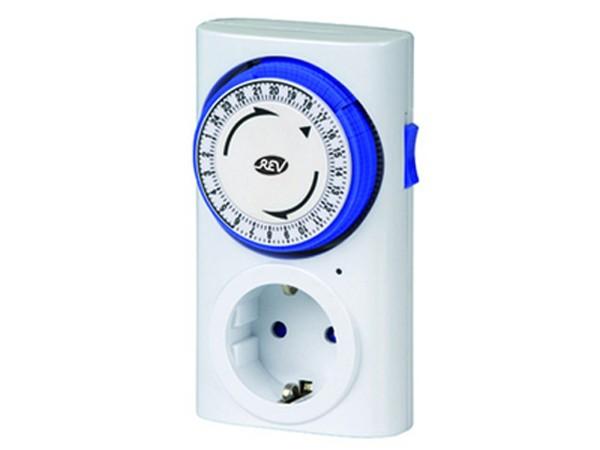 Zeitschaltuhr mechanisch Premium weiß/blau - REV-Ritter (0025400103)