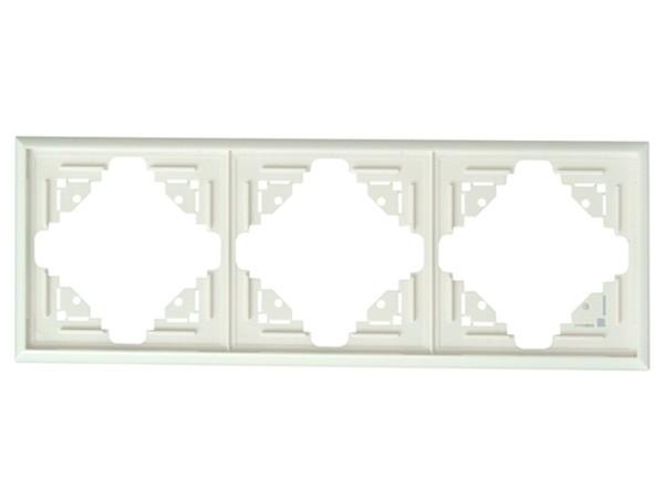 Abdeckrahmen 3-fach weiß Serie Malta - Kopp (309301084)