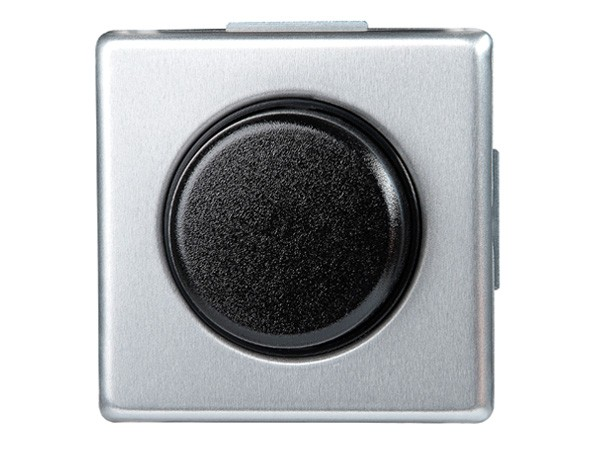Dimmer mit Wippen-Wechselschalter (Phasenanschnitt) Serie Vision stahl - Kopp (805220085)
