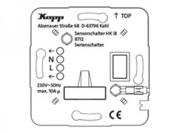 HK i8 UP-Leistungsteil Schalter/Taster, 3-Draht Kopp (871100010)