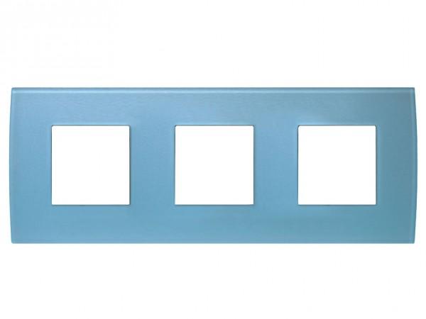 TEM Serie Modul Plus PURE Glas Abdeckrahmen 3x2M Eisblau (OP26GB-U)